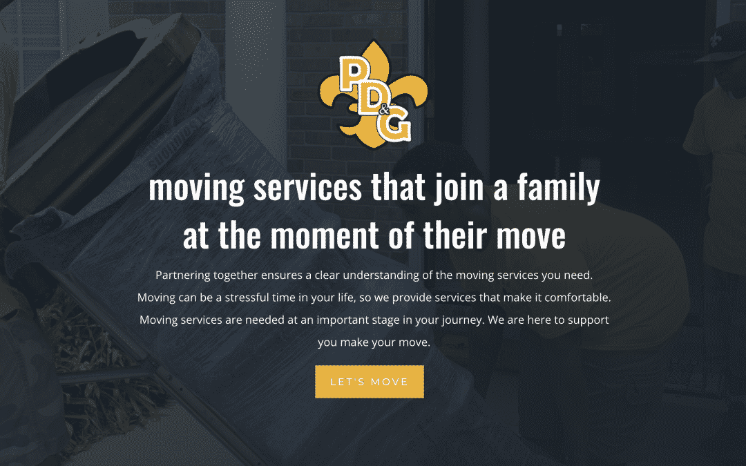 Great Web Design for Local Moving Company in Louisiana