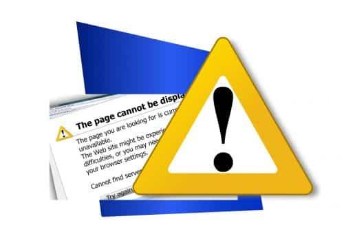 website error screen