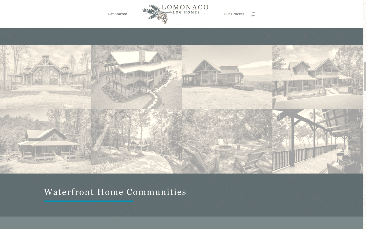 portfolio of log homes