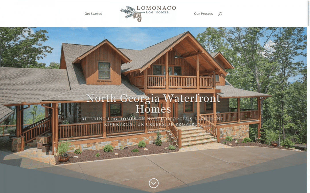 Lomonaco Log Homes Website