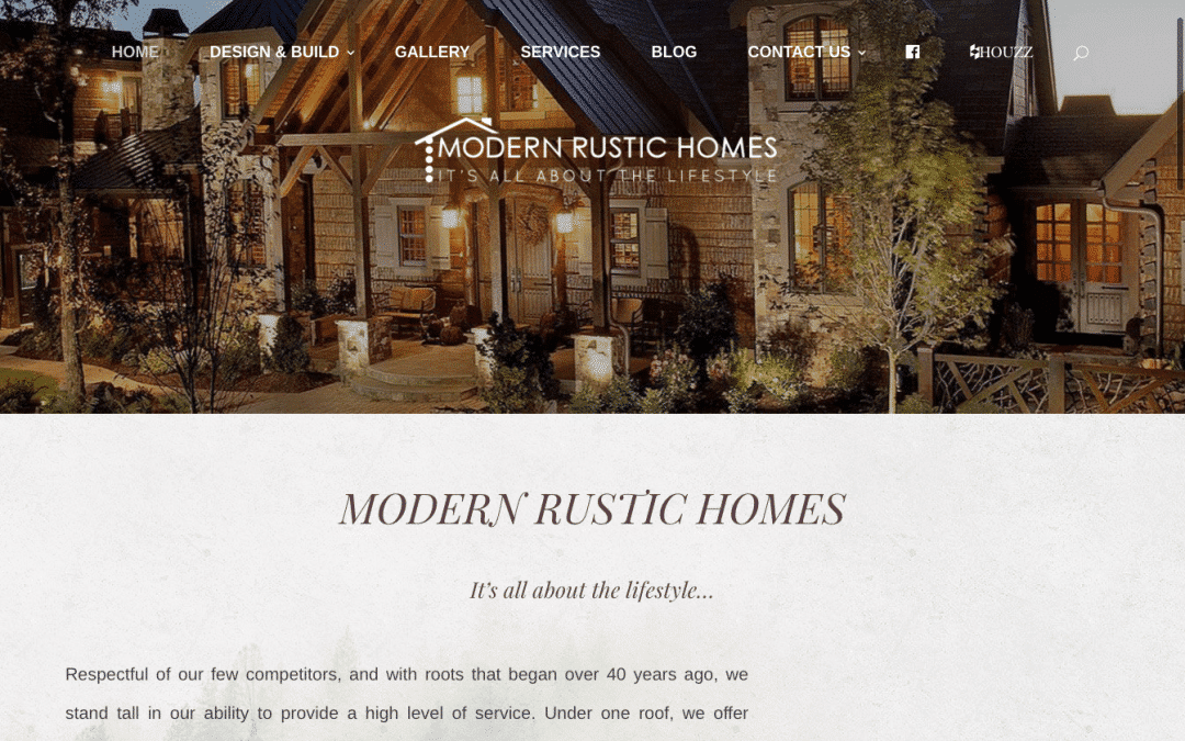 Modern Rustic Homes Website