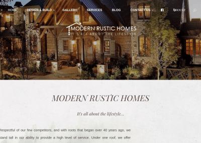 Modern Rustic Homes Website