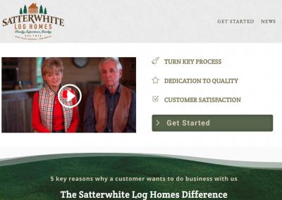 Satterwhite Log Homes of Georgia Website