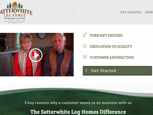Satterwhite Log Homes of Georgia Website