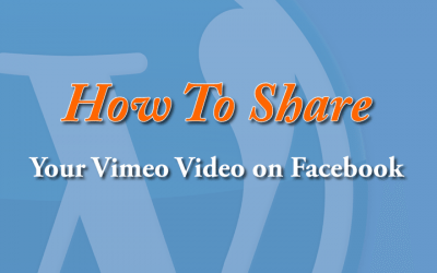 Share your Vimeo video to your Personal Facebook Profile